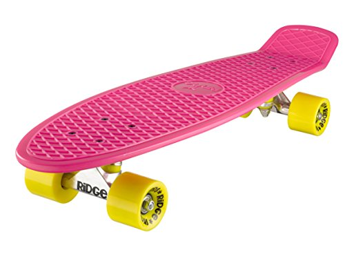 Ridge Skateboard Big Brother Nickel 69 cm Mini Cruiser, rosa/gelb