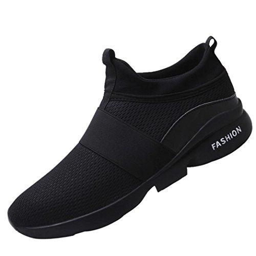 Mode Turnschuhe Herren,❤️Absolute Männer Atmungsaktive Mesh Schuhe Beatifable Wild Slip-On Freizeitschuhe 2018 Sommer Neue Gym Skate Sneakers Flach Laufschuhe (EU:41/CN:42, Schwarz) (Stiefel Winter Nike)