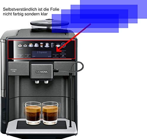 4X Crystal Clear klar Schutzfolie für Siemens TE657509DE S700 Kaffeevollautomat Displayschutzfolie Bildschirmschutzfolie Schutzhülle Displayschutz Displayfolie Folie
