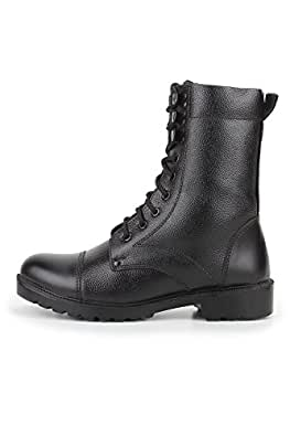 Armstar Men's Black Leather High Ankle Boots