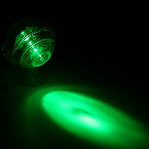 Blusea Luce Lampada Acquario LED,Acquario Impermeabile Faretto a LED Luce sommergibile Lampada Convessa Design con Ventosa Fish Tank Decorativo Colore Chiaro Che Cambia