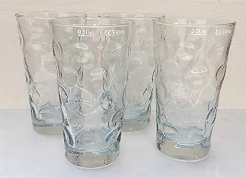 4 Stück Premium Dubbeglas für Schoppen 0,5 L Schoppenglas zum Genuss von Pfälzer Wein, Schorle...