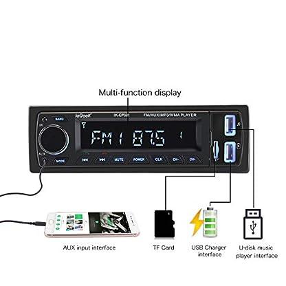 Verbesserte-ieGeek-Autoradio-mit-Bluetooth-FreisprecheinrichtungUSBMP3FMWMAWAVTF-Media-Player-FernbedienungSingle-Din-Universal-Autoradio