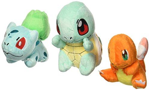 OliaDesign - Peluches de Pokémon: Bulbasaur, Charmander, Squirtle (3piezas), 14,73 cm