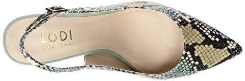 LODI Edna3, Chaussures à Talon avec Bout Fermé Femme Multicolore (Anaconda Mauve/Aloe/Canela)