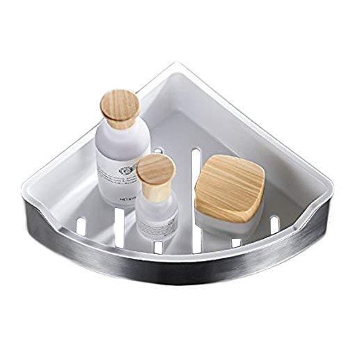 Eck Dusche Caddy Badezimmer Dreikant-Badewanne und Dusche Caddy Korb, gebürstet, SUS304Edelstahl + ABS, xy98107N