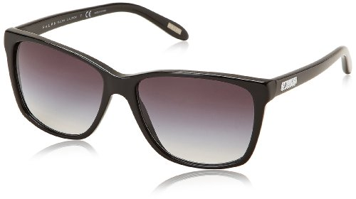 Ralph Damen Wayfarer Sonnenbrille Youth & Fashion Ralph Plaque, Gr. 57, Black-Gray