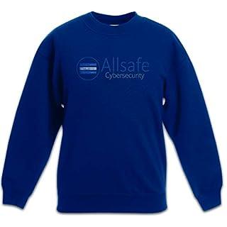 Allsafe Cybersecurity Kids Children Boys Girls Sweatshirt Pullover Fsociety Hacker TV Evil E Corp Mr. Robot