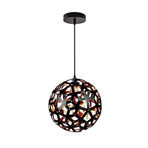 Funky Anhänger Beleuchtung (BinLZ Chandelier Moderne Kronleuchter Deckenleuchten Anhänger Sphere DIY Lighting Hanging Light Zeitgenössische Pendelleuchte Art Deco 3C Ce FCC Rohs für Wohnzimmer Schlafzimmer, Schwarz)