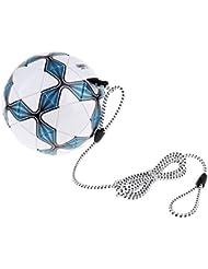 Homyl Ballon d'Agilité de Foot avec Cordon Élastique Améliorer la Précision Balle Formation au Football pour Enfant