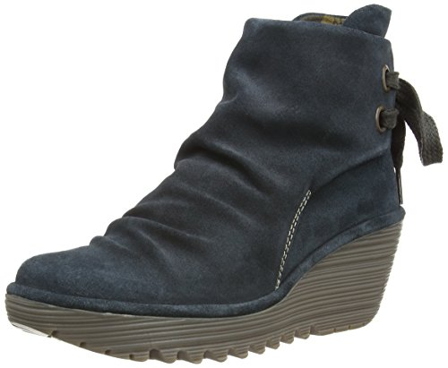 Fly London Yama P500326022, Boots femme Noir (Anthracite)