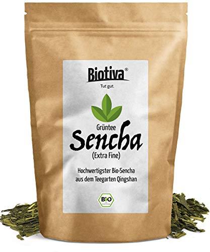 Bio Sencha Grüntee (250g) - Top Japan-Style - Spitzenpreis - Vorratspackung für 100 Tassen - Mild, leicht grasig, dabei feinherb und blumig - Fairbiotea-Zertifikat - DE-ÖKO-005