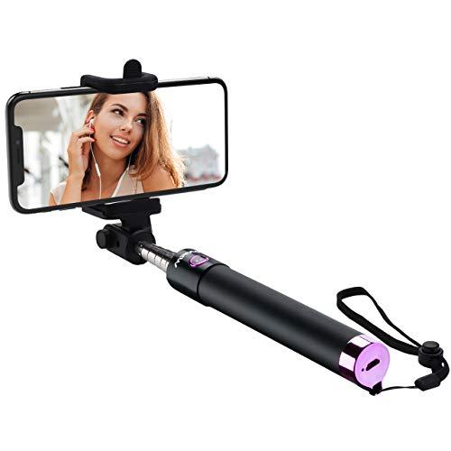 Mpow Selfie Stick,iSnap X U-Form Selfie Stange Erweiterbar Selfie-Stick mit integrierter Bluetooth Fernauslöser Selfie Stick mit Handgelenkband für IphoneHuawei amsung Oppo Redmi 4 MP3 Players usw