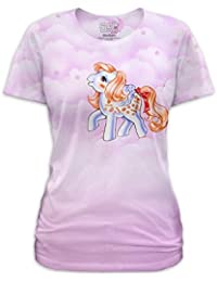 My Little Pony Candy Clouds Junior Pink And weiß T-Shirt
