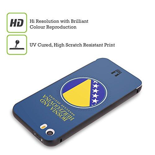 Head Case Designs Israelische Fahne Fahnen Flicken Schwarz Rahmen Hülle mit Bumper aus Aluminium für Apple iPhone 5 / 5s / SE Bosnische Fahne
