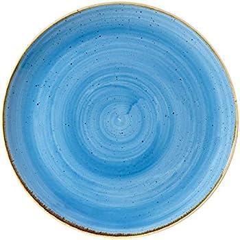 diametro 320 mm Piatto piano tondo in porcellana azzurro stone diametro 32 cm confezione 6 pezzi