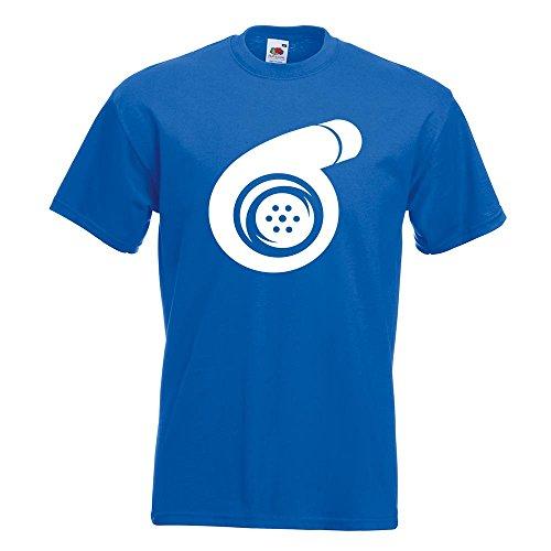 KIWISTAR - Turbolader T-Shirt in 15 verschiedenen Farben - Herren Funshirt bedruckt Design Sprüche Spruch Motive Oberteil Baumwolle Print Größe S M L XL XXL Royal