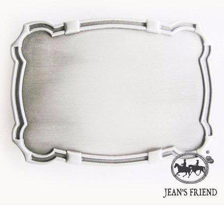 boucle mode Homme ceinture western homme country original cowboy rectangle encadré blanc
