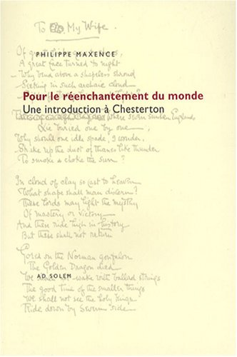 Pour le réenchantement du monde. Une introduction à Chesterton