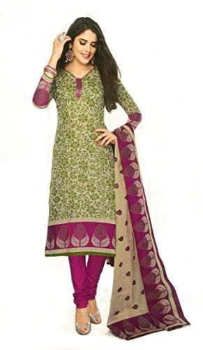 Shree Ganesh Clothing Women's Cotton Salwar Kameez Dress Material (sgs- 218 _Beige