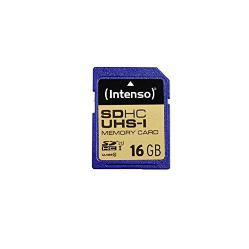 Intenso SDHC UHS-I 16GB Class 10 Speicherkarte blau