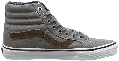 Vans Sk8-Hi, Sneakers Hautes Mixte Adulte Gris (Cord & Plaid frost gray/True White)