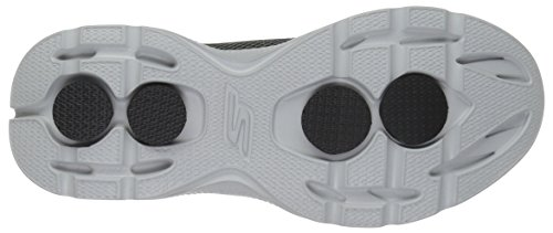 Skechers Herren Go Walk 4 Sneakers Black/Gray Knit