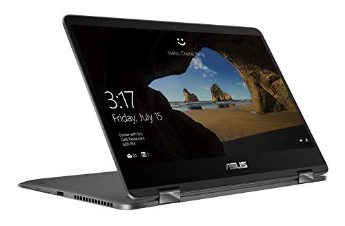 "Asus Zenbook Flip UX461FA-E1059T Ultrabook 14"" Gris (Intel Core i5, 8 Go de RAM, SSD 256 Go, Windows 10) Clavier Azerty Français"