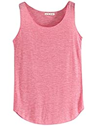 VENMO Ropa Camiseta de tirantes para mujer,VENMO Las mujeres del tanque de verano-cuello redondo sin mangas camisetas sueltas chaleco (Rosa caliente, Busto: 84cm-120cm)