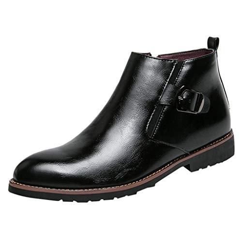Anglewolf Herren Halbschuhen Leather Stiefel FüR Boots Lederschuhe Berufsschuhe Winterstiefel Lederstiefel MäNner KnöChel Suede AbsäTzen Boot