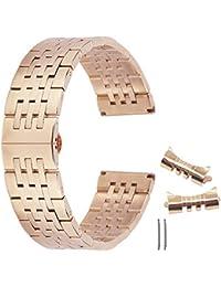 cinturino di orologio 21 millimetri rosa cinturino orologio d'oro in acciaio inox cinturini orologio della cinghia del cinturino cinturini per orologi cinturino in acciaio inox bracc