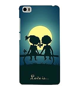 FUSON Love Is Being Togther 3D Hard Polycarbonate Designer Back Case Cover for Xiaomi Mi 5 :: Redmi Mi5