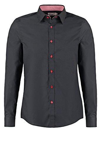 Camicia da uomo pier one slim fit in bianco, blu navy o nero, taglia m