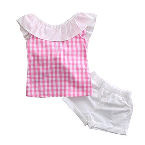 smartlady-26-anos-ninas-bowknot-camisa-a-cuadros-sin-mangas-y-pantalones-cortos-2-anos-rosa