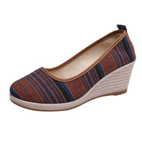 Zapatos Plataforma Cuña para Mujer