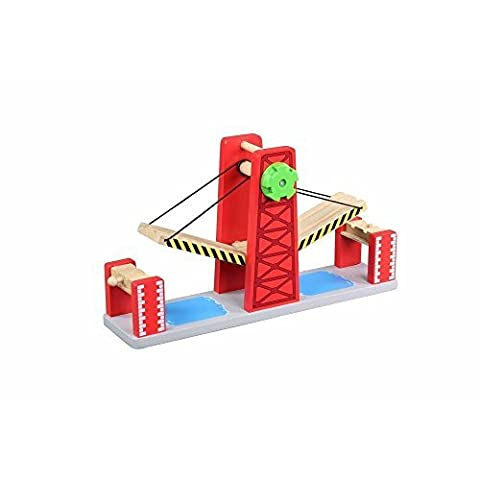Toys For Play Wooden Railway Double Lifting Bridge