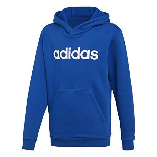 adidas Jungen Linear Hood Kapuzen-Sweatshirt, Collegiate Royal/White, 152