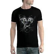 Pantera Puma Jaguar Ojos Verde Animales Hombre Camiseta XS-5XL Nuevo