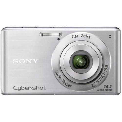 Sony DSC-W530S Digitalkamera (14 Megapixel, 4-fach optischer Zoom, 26mm Weitwinkel, 6,9 cm (2,7 Zoll) Display) silber