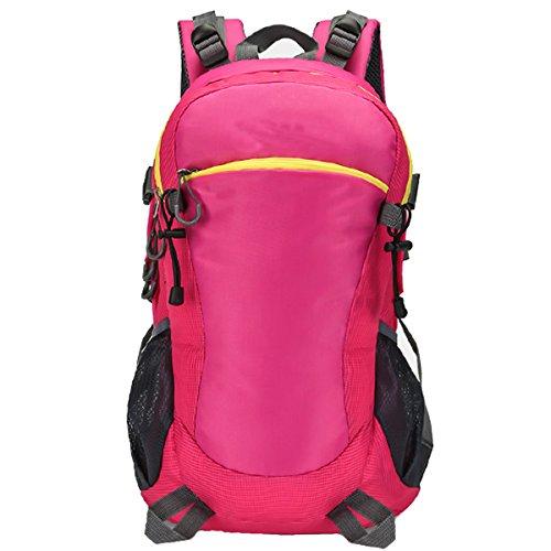 Moda Sport arrampicata All'aperto Escursionismo Viaggio Le spalle Campeggio Impermeabile Zaino (Rosso) Rosso