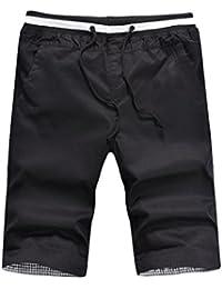 Yuanu Hombre Verano Thin Transpirable Stretch Pantalones Cortos Moda Imprimir Deportes Casual Drawstring Shorts vgLKkNDb