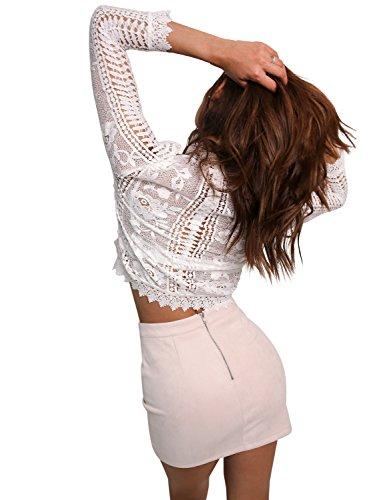Simplee Apparel Damen Bluse Weiß