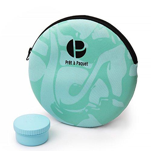 Prêt à Paquet- Elegante y asombroso recipiente con tapa para ensaladas a Prueba de fugas- tamaño ideal para usted -100% seguro para microondas y lavavajillas – Comida saludable-fácil de limpiar y secar …