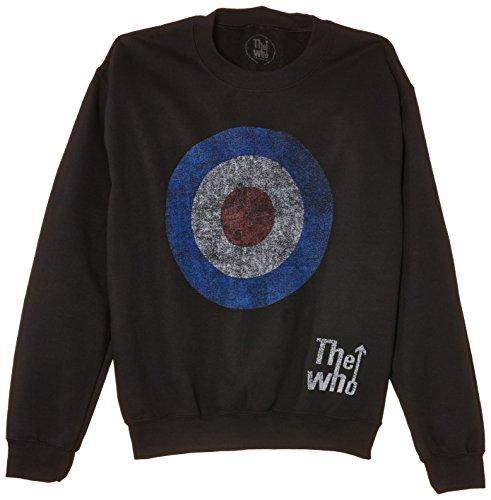 The Who Herren Sweatshirt Target Distressed Schwarz