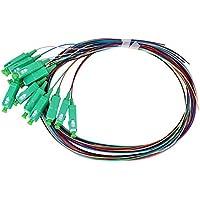 SC/APC-0.9mm Cable de cable flexible de fibra monomodo Cable de cable flexible de fibra Fibra óptica con 12 núcleos para redes Sistema de comunicación