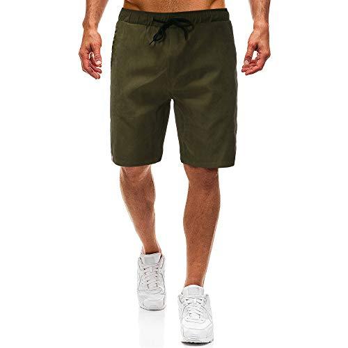 Aiserkly Chino Shorts Bermuda Kurze Hose Mit Kordel Aus Stretch-Material Regular Fit Herren Cargo Shorts Arbeitshose -