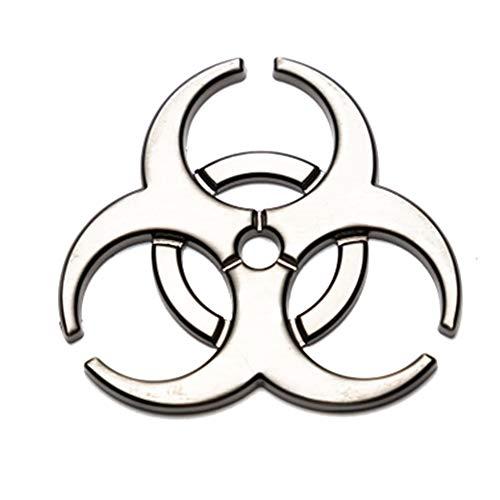 Ruiting Kreative Resident Evil Metall Aufkleber dekorative Auto Aufkleber Personalisierte Biohazard Symbol Auto Aufkleber Bronze Autoaccessoires -
