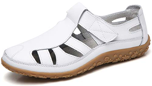 Hishoes Damen Mokassin Bootsschuhe Leder Loafers Fahren Flache Schuhe Halbschuhe Slippers Erbsenschuhe