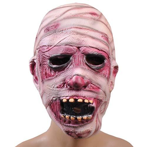 ror Grimasse Maske Zombie Mumie Scary Dress Up Karneval Ball Bühnenshow Dekoration (Farbe : B) ()