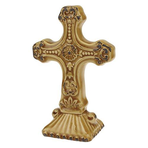 Stonebriar getragen Bernstein Keramik Kreuz Ständer, klein (Kleine Keramik-kreuz)